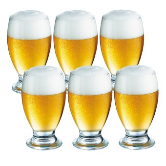 Harga Pilsner / Beer Glass / Juice Glass / Water Glass 350ml Set of 6 Glassware