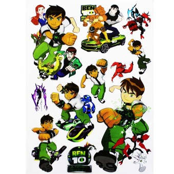 Harga Wallmark Ben Ten 3D Wall Sticker (Multicolor)
