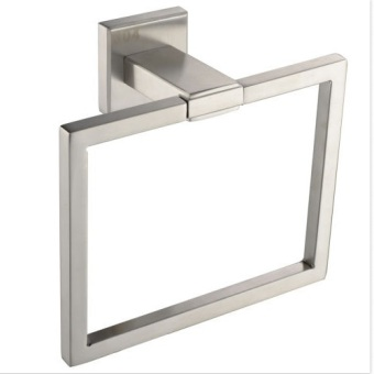 Harga 304 Stainless Steel Bathroom ​Bath Towel Holder Hand Ring Square Brushed Finish - intl