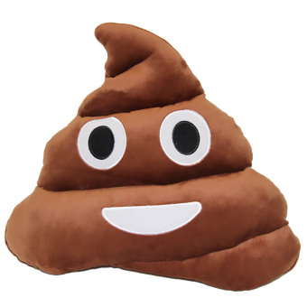 360WISH Cute Cartoon Creative QQ Expression Emoji Smiley Emoticon Brown Poop Face Cushion Pillow Throw Pillow Stuffed Plush Soft Toy - Brown (EXPORT) Price Philippines