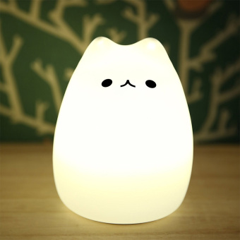 Multicolor Silicone LED Night Light Cute Cat Night Lamp USB Price Philippines
