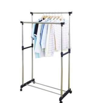 Harga Double Pole Stainless Steel Clothes Rack