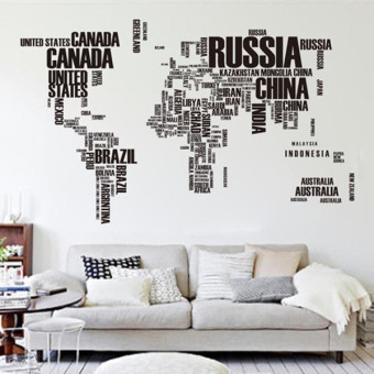 GETEK Letter World Map Quote Wall Stickers Price Philippines