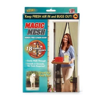 Magic Mesh Magnetic Curtain Net - Anti Mosquito Bug and Insect - Intl Price Philippines
