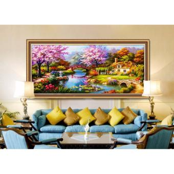 Harga Rising Star Dream Home DIY 5D Diamond Painting Cross Stitch Full Drill Rhinestone Painting Decor #8782