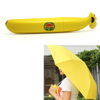 Harga Banana Shaped Umbrella Yellow Clear Rain Umbrellas - Intl