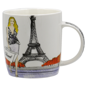 Harga The Lady in Paris Trendy Mug (Multicolor)