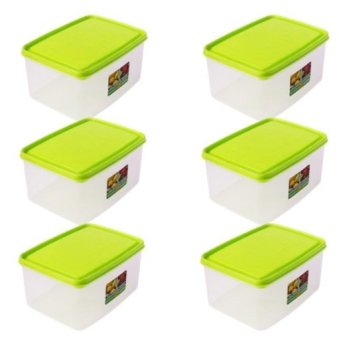 Harga Sunnyware Food Keepers 113 Series Set of 6 (Green)