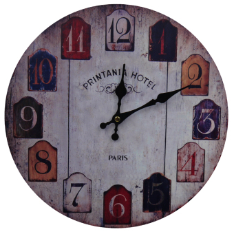 Harga Decorative Fine Wooden Wall Clock (Paris)