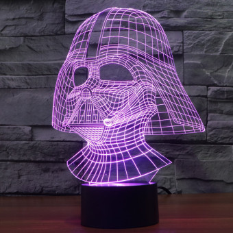 Creative 3D illusion Lamp LED Night Light Dark Knight Acrylic Colorful Gradient Atmosphere Lamp Novelty Lighting Price Philippines
