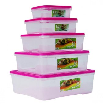 Harga Sunnyware Food Keepers 720 Series Set of 5 (Pink)