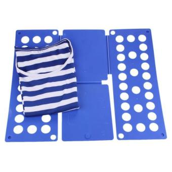 Harga 1PC Laundry Child Magic Fast Easy Speed folding Clothes Fold Board Blue - intl