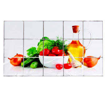 Harga Fruit Pattern Kitchen Foil Wall Sticker Hot Oil Proof Decoration -