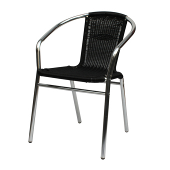 Harga Sumo AWC-101WNG Deluxe Aluminum Wicker Chair Furniture (Black)