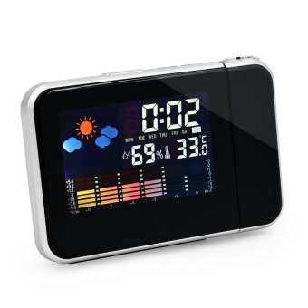 Harga MENGS® 812 LED Backlight Digital Weather Station Projection Clock All-In One Calendar / Alarm / Snooze / Temperature Humidity Display