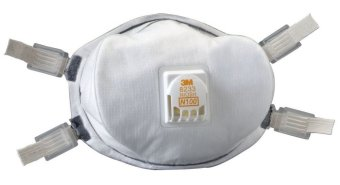 3M N100 8233 Particulate Respirator Masks Cool Flow Exhalation Valve, Nose Clip, Meets NIOSH, OSHA Price Philippines