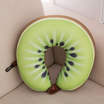 Fruit Cartoon Memory Foam Car Air Travel U Shaped Pillow Neck Head Rest Cushion Kiwi fruit - intl Price Philippines