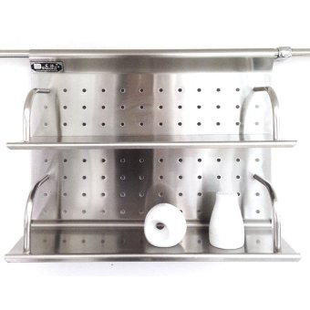 Harga Ideal Home Stainless Condiment Hanging Rack