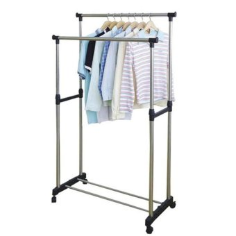 Harga New Clothes Rack Double Pole No. YJX6802