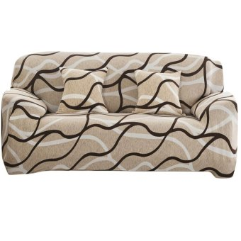 Harga Sofa Furniture Cover Slipcover Big Elastic Printed Sofa Cover - intl