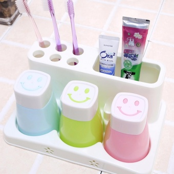 Harga Rising Star Toothpaste Toothbrush Holder With Washing Cup 3 Cups Set #036