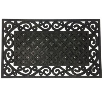 Harga Royal Crown Doormat Rubbermat (Black)