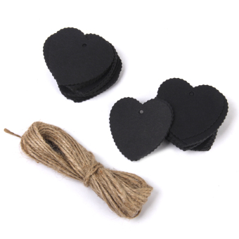 Kraft Paper Blank Card Hand Draw Gift Tags Heart Label 100pcs Black Price Philippines