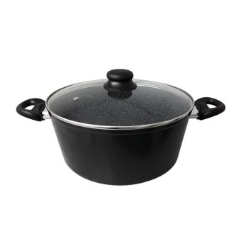 JML Stoneware Professional Culinary Cookware Stove Top Pan 28cm with FREE Glass Lid SP28 (Black) Price Philippines
