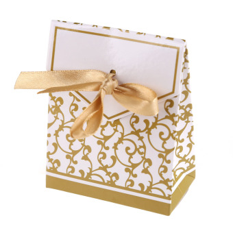 100pcs Creative Ribbon Candy Paper Box Gold Price Philippines