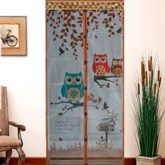 Magic Mesh Tirai Magnet Anti Nyamuk Motif Owl - Tirai Pintu Magnet - intl Price Philippines