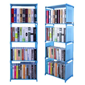Harga Bookcase Home Furniture Adjustable Bookcase Storage Bookshelf with4 Book Shelves