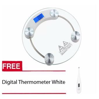 Tempered Glass Digital Weighing Scale with Free Digital Thermometer white Price Philippines