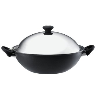 Harga Meyer Cook n' Look Induction Chinese Wok 40cm (Silver/Black) (19578)