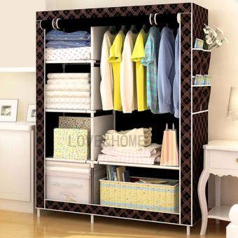 Harga LOVE&HOME Storage Wardrobe and Clothes Organizer (Chocolate)