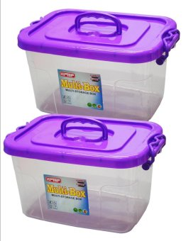 Hi Top 4 Liters Multi Storage Box Transparent Body Set of 2 Violet Price Philippines