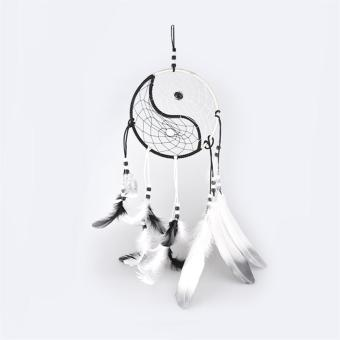 Handmade Yin Yang Tai Chi Dream Catcher Feather Craft Wall Hanging Ornament - intl Price Philippines