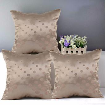 "Home Essentials Toffee Mocha 16"" x 16"" Throw Pillow Case Set of 3 Price Philippines"