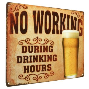 NO WORKING Metal Tin Sign Vintage Poster Plaque Bar Pub Cafe Wall Decor 20x30cm - Intl Price Philippines