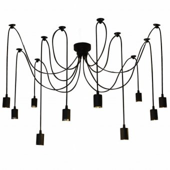 LIXADA 10 Arms E27 Ceiling Spider Pendant Lamp Light Antique Classic Adjustable DIY Retro Chandelier Dining Hall Bedroom Home Lighting Accessories - Intl Price Philippines