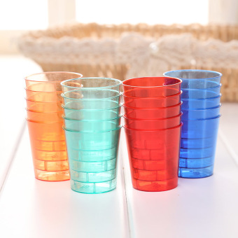 Harga 20pcs Disposable 30ml Glasses Cups Plastic Cup Jelly Shot Colourful Glassware