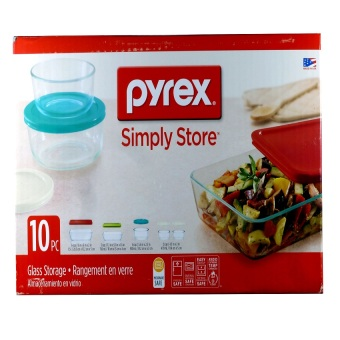 Harga Pyrex Simply Store 10-Pc Set W/ Multi-Colored Lids