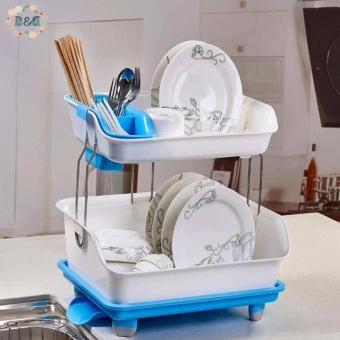 Harga D&D Kitchen Dish Drainer Drying Rack Holder Organizer Tray