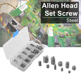 Harga 200pcs Multi-size Steel Allen Head Socket Hex Grub Screw Assortment Set BI413