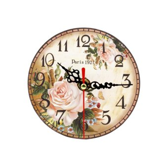 Harga Wallmark Paris Rose Table Clock