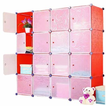 Tupper Cabinet 16 Cubes White Doors Red DIY Storage Cabinet (Red) Price Philippines