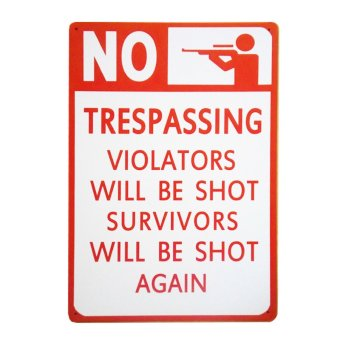 No Trespassing Metal Tin Wall Art Decor Price Philippines