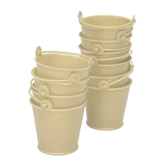 10x Mini Cute Bucket Colored Wedding Party Favour Keg Box Gift Pails Candy Lolly Ivory Price Philippines