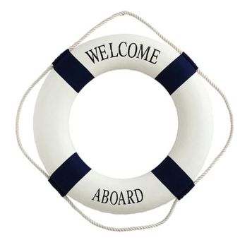 Harga Foam Home Decor Nautical Decor Lifebuoy Wall Hanging (14CM)(Blue) - Intl