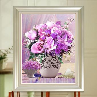 Harga Rising Star Rising Star Purple Grace DIY 5D Diamond Painting Cross Stitch Full Drill Rhinestone Painting Decor #8835