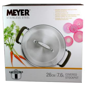 Meyer Brown Sugar S/S 26cm /7.6l Covered Stockpot Price Philippines